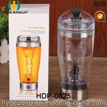 Popular Newly Plastic BPA Free Vortex Bottle, 450ml Plastic Electric Protein Shaker Bottle (HDP-0825)