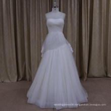 R007 simple off sleeveless wedding dress