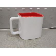 Quadratischer Sublimations-Becher, kleine quadratische Tasse, quadratischer Becher mit zwei Tönen