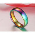 Cheap wholesale gay colored engagement wedding stainless steel rings for men