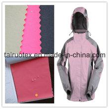 Taslon de nylon de 320 t con recubrimiento lechoso para tela de traje de esquí
