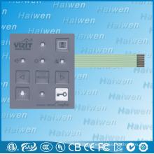 Interruptor de la membrana del botón de la alta calidad LED para el teléfono visual