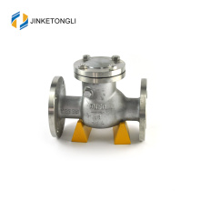 JKTLPC055 industrial inline carbon steel flanged air line check valve
