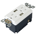 TR-BAS15-2USB UL y CUL listado RECEPTACLE con USB