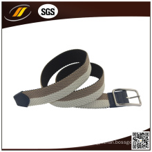 Multi Color Couples Woven Elastic Braided Stretch Belts for Men