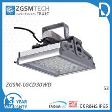 30W Tempered Glass IP65 LED High Bay Light Fixture