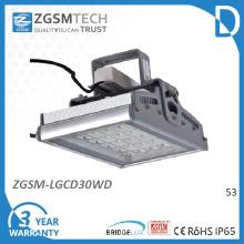 30W temperado vidro IP65 diodo luminária