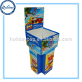 Customized Store Fixture Cardboard Stand Corrugated Dump Bin Display For Promotion