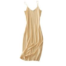 Damen neue Design von Pullover Kleid reine Kaschmir Strickwaren aus Schulter Kleid