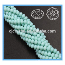 Robes de mariée perles en cristal lisse rondelle perles 12mm