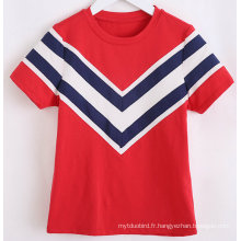 Tee-shirt Fashion Stripe Marine Girl