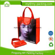 Bolsa promocional reutilizable plegable portátil de compras