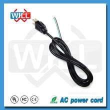 PSE tira 125v 250v japón cable de alimentación con extremo abierto