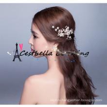 Элегантный ручной кристалл rhinestone свадебные аксессуары для волос