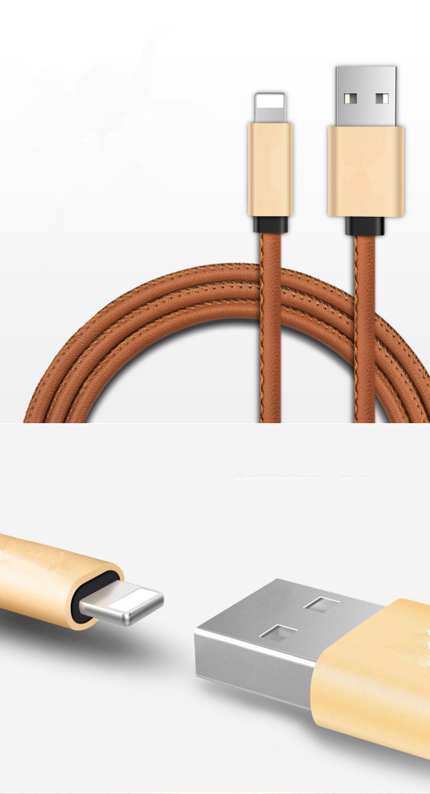 Iphone Charge Leather Cable