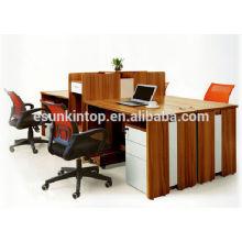 Wenge Holz Finishing Büro Schreibtisch einzigen Bildschirm Stuff Schreibtisch für Büro verwendet