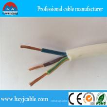 3-х жильный кабель Rvv Fleixble с силовым кабелем 300 / 500В