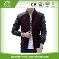 Custom Fashion PU Leather Jacket For Man