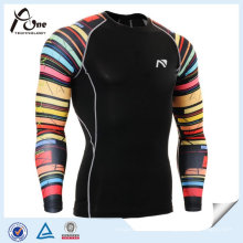Sublimation sans balise sans-mesure Man Rash Guard
