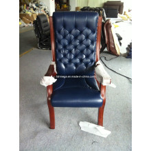 High Back Navy Blue Magistrate Stuhl Knopf Tufted Stuhl (FOH-A88)