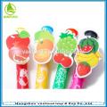 Frutas personalizadas clip novidade caneta esferográfica para presente