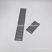 Kundenspezifischer selbstklebender stummer silberner Drache-Aufkleber HAUSTIER Etikettendruck