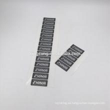 Pegatina de plata muda autoadhesiva de encargo del dragón Etiqueta PET de la impresión