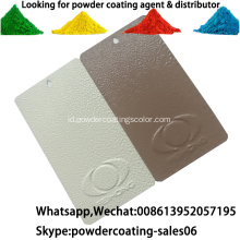 Ral Color Thermmosetting Powder Coating Untuk Substrat Logam