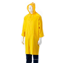 PVC adult rainwear with button and hood