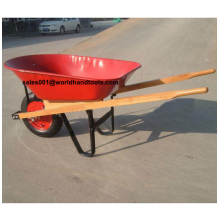 Wooden Handle Wheelbarrow for South American Market