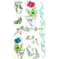 Transferência de água que imprime tatuagens provisórios com tinta eco-amigável da tatuagem