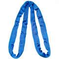 8 Ton 7M Or OEM Length Synthetic 7T Endless Round Lifting Belt Sling Blue Color Safety Factor 8:1 7:1