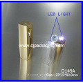 luxury LED hight lipstick tubes with mirror LED lipstick container and mirror