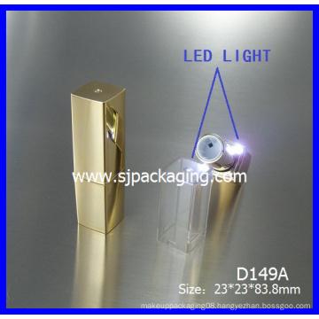 2014 new product empty LED lipstick tube luxury LED cosmetic packaging