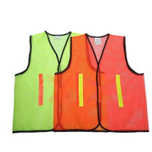 Safety Vest Made of Mesh Fabric with Polyester Tape