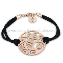 Bracelets en acier inoxydable en gros pour bracelets en forme de bracelet pour filles