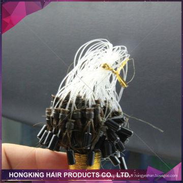 bon marché Extensions de cheveux micro de boucle d'anneau de cheveux de cheveux de Brazillian