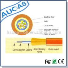 Fábrica de suministro de 24 núcleos de fibra óptica de un solo modo de cable GJFJV Central oferta de tubo suelto