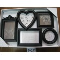 5 Opening Wall-Hanging Plastic Multiple Photo Frame