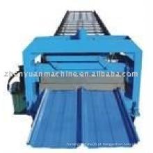 Máquina de formação de rolo de painel de telhado oculta articulada
