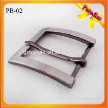 PB02 Heiße Verkaufsgroßverkaufdamenmänner arbeiten Zinklegierungsgurtzusatzmetallgürtelstiftwölbung für Bügel 35mm um