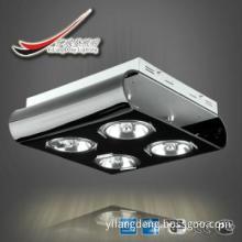 chrome iron box+black acrylic down light with ar111 4 lights, ce cb gs