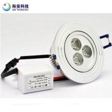 3W 300lm 230V luz de techo LED