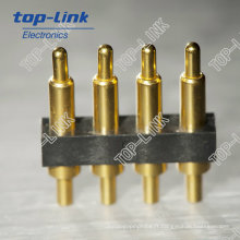4 broches Type vertical Trou traversant Pogo Pin Connector