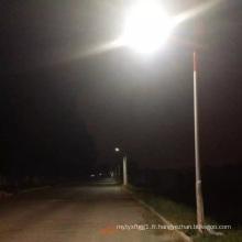 Projet solaire professionnel du réverbère de 70W LED 8m avec la batterie au lithium