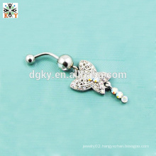 high quality dangle navel rings Buttertly Belly piercing Rings