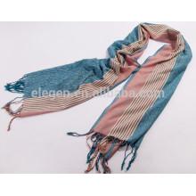 Écharpe rayée en laine de polyester de haute qualité