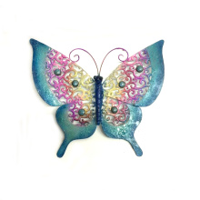 Rough Metal Butterfly Wall Craft avec pierre de couleur