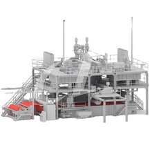 MODEL 2400MM PP SMS SPUNMELT NONWOVEN FABRIC PRODUCTION LINE
