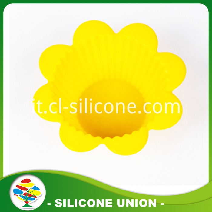 flower shape silicon cake mold